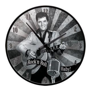 Nostalgic Ρολόι τοίχου 31 εκ. 'Hollywood Elvis - Rock'n Roll Baby'