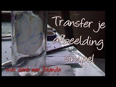 DIY Transpirante Transfer van afbeeldingen met Modpodge, door Jolanda - YouTube