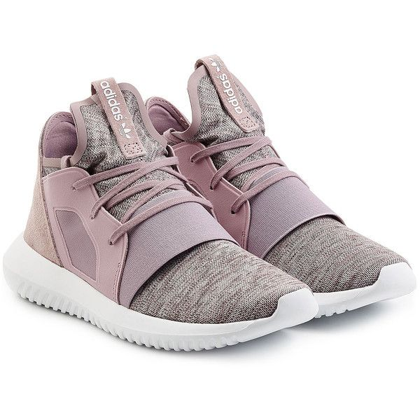Adidas Originals Tubular X Sneakers (185 BAM) ❤ liked on Polyvore featuring shoes, sneakers, mauve, round toe sneakers, mauve shoes, adidas originals trainers, long shoes and round cap