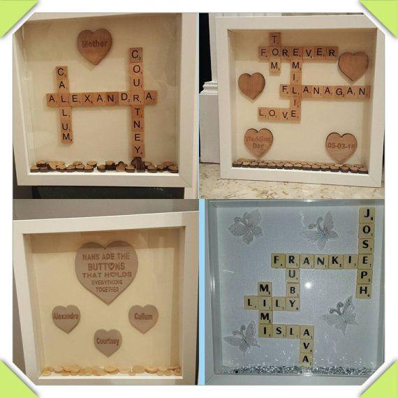 Personalised scrabble frames