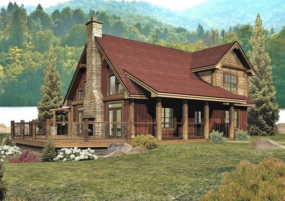 Tahoe Crest - Log Homes, Cabins and Log Home Floor Plans - Wisconsin Log Homes