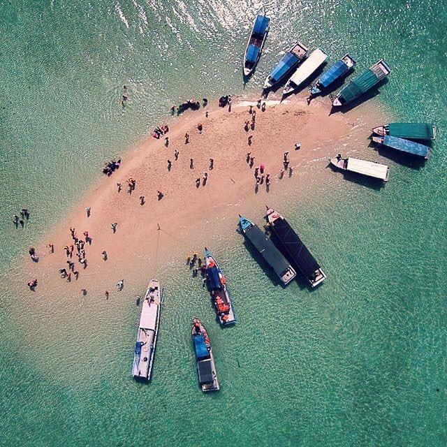 Sand Island, Belitung, Indonesia // Photo by @antonchandra #fromwhereidrone