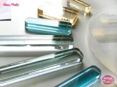 ROUNDED RECTANGLES Clear Mold 4 sizes , transparent Mold  to make resin collier, earrings single or multiple pendants-very shiny…