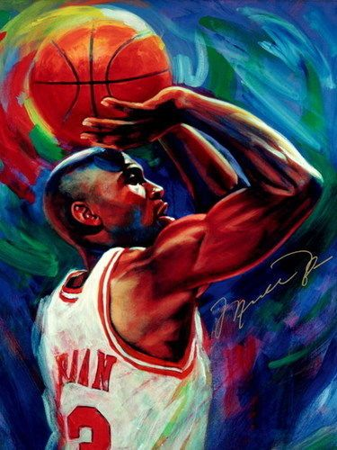 Michael Jordan Chicago Bulls NBA Basketball Quality Print Wall Poster 24X32 Inch…