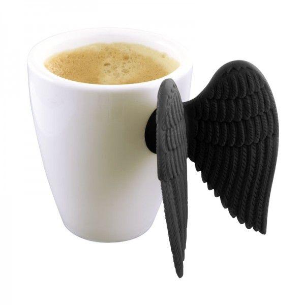 Xícara de Café Angel Time - Preta