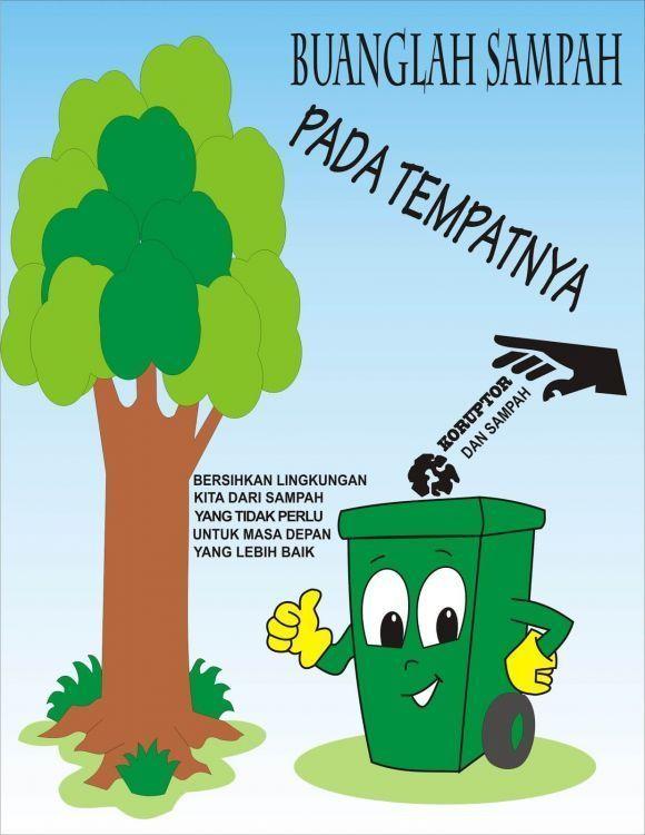 Contoh Poster Lingkungan Tentang Sampah Poster Seni Rupa Gambar