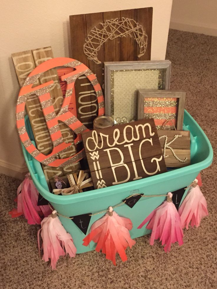 Big and little reveal gift basket
