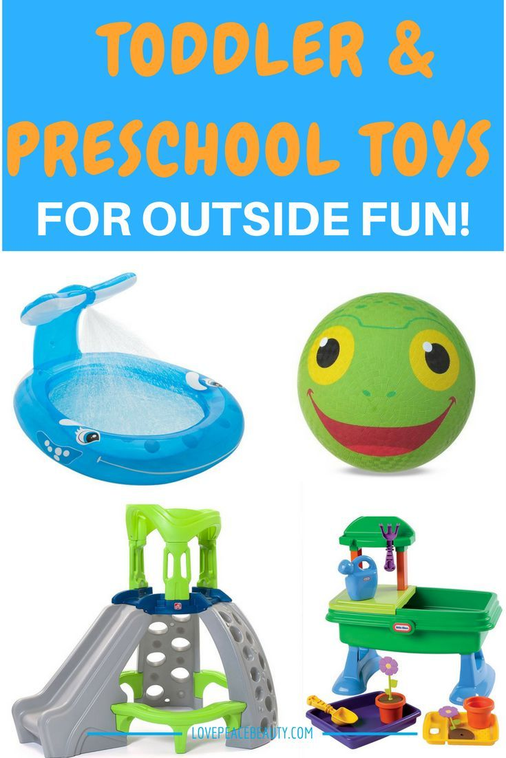 The Best Outside Toys for Toddlers and Preschoolers Try these top outside toys for toddlers and preschoolers Transform any outdoor space into an adventure-filled play area with outdoor toys. This selection is either on our wish list or toys we have experience with first hand. This selection will ignite imaginations and encourage kids to engage …