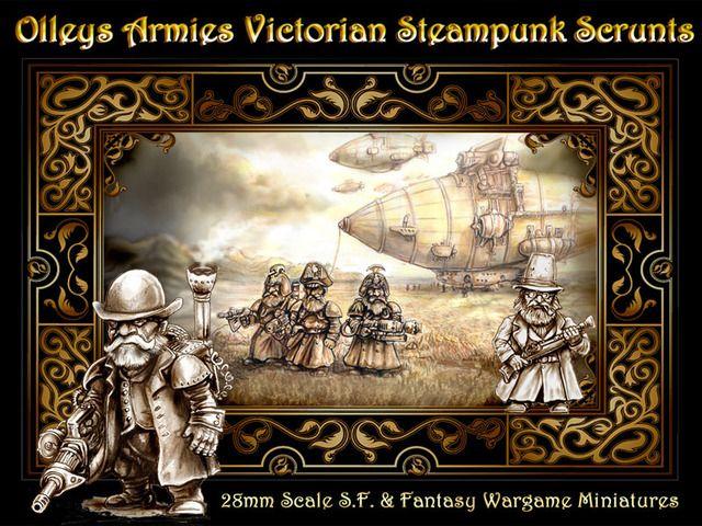 Olleys Armies Steampunk & Victorian Scrunts aka Dwarfs by Bob Olley // unique miniatures for tabletop gaming