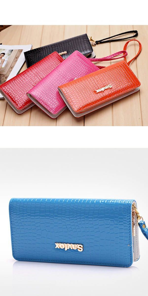X Pore Wallets Fashion Glossy Stone Pattern Women Purse Patent Leather Zipper Wallet R Edgars Hollister J Fold