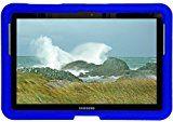 Bobj Rugged Case for Samsung 10.1 Galaxy Tab and Galaxy Tab 2 (Not for Tab3) - BobjGear Custom Fit - Sound Amplification - BobjBounces Kid Friendly - Batfish Blue