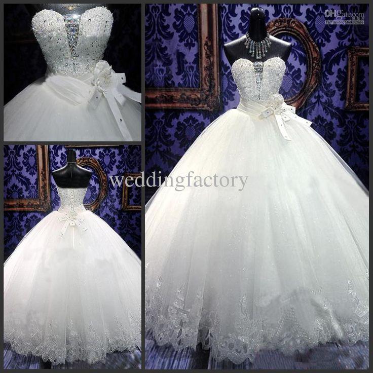 Wholesale Wedding Dress 2013 - Buy Luxury Bling Bling Wedding Dresses 2013 Sweetheart Ball Gown Bridal Dress, $298.43 | DHgate