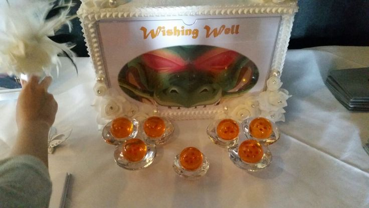 Shenron in front of Dragonballs at our wishing well.
