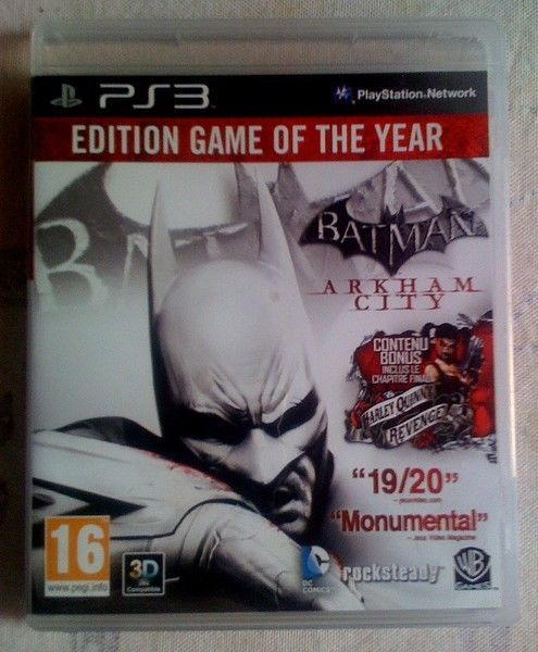 Jeu vidéo pour Playstation PS3 - BATMAN Arkham City - Edition Game of The Year