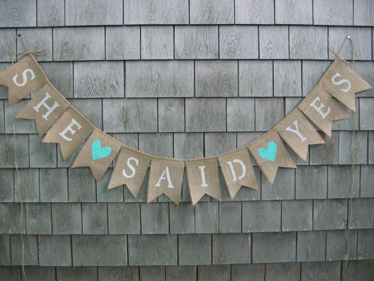 She Said Yes Banner, She Said Yes Bunting, Engagement Banner ...