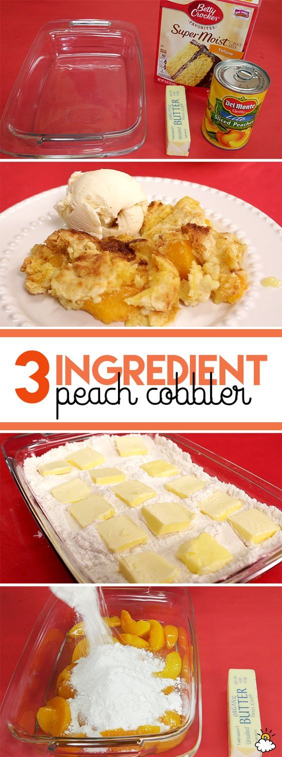 Learn How To Make Delicious 3 Ingredient Peach Cobbler