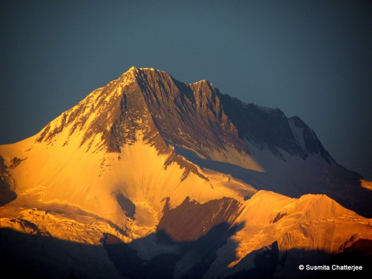 Evening view of Nepal Himalaya from Pokhara, Nepal