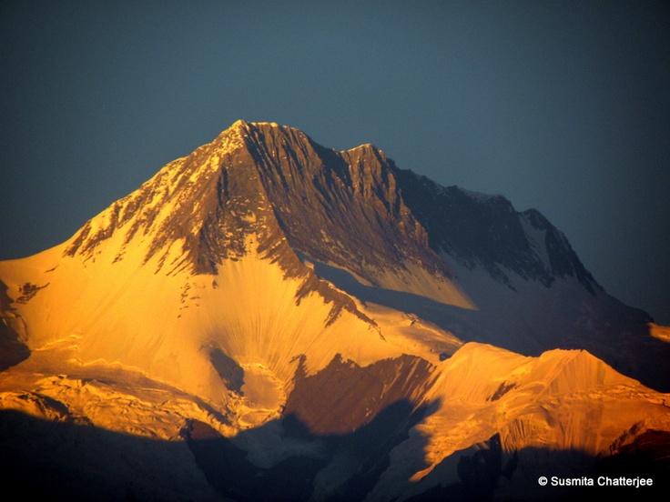 Evening view of Nepal Himalaya from Pokhara, Nepal