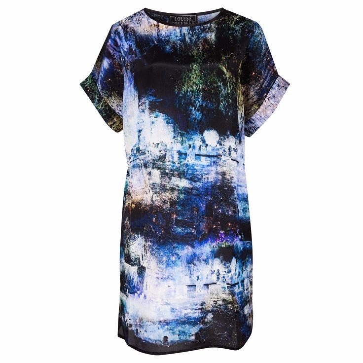 Shadowlands Silk T-Shirt Dress | Louise Coleman | Wolf & Badger