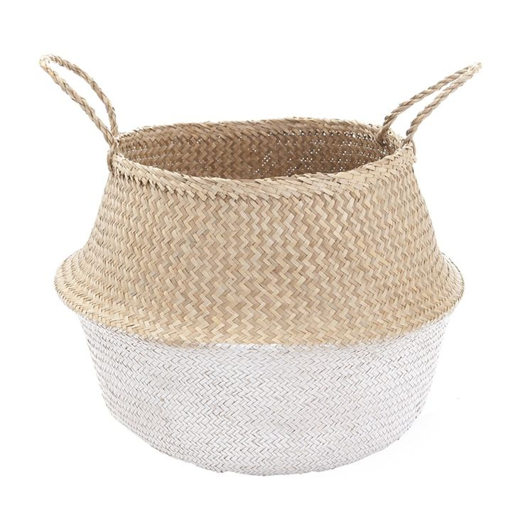 White Dipped Belly Basket - 42cm