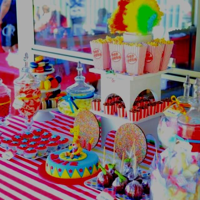 1st Birthday -Circus candy buffet by Marli Blewitt