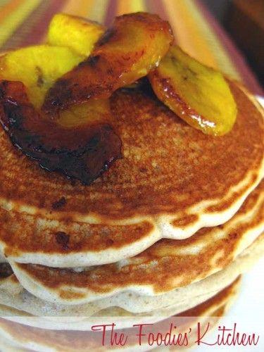 Caramelized Plantain Pancakes (Panqueques de platano) by The Foodies' Kitchen