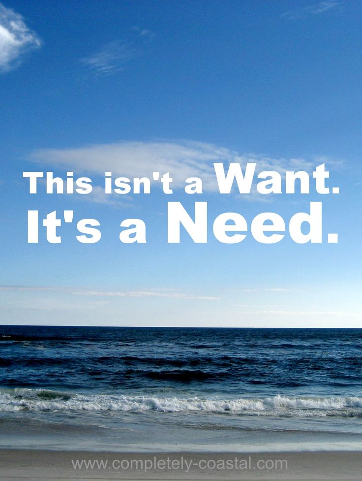 A need for the ocean and the beach...