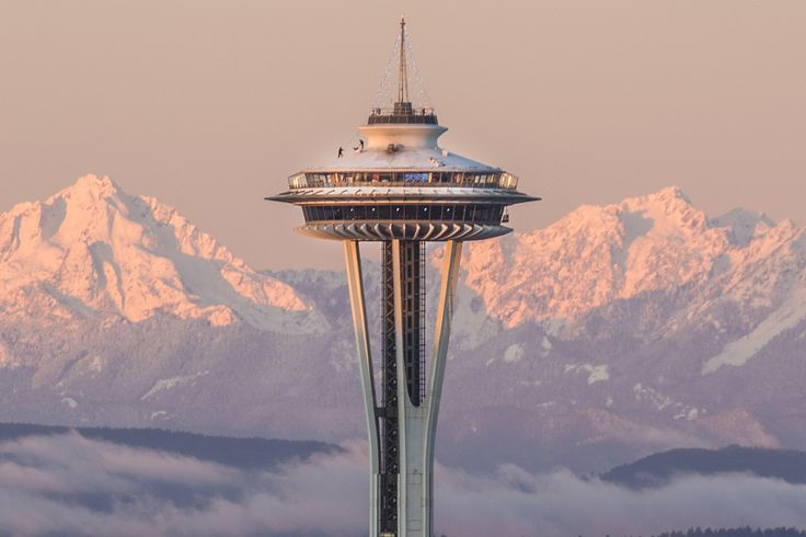 """equalmotion: """" The Space Needle and the Olympic Mountains """""""