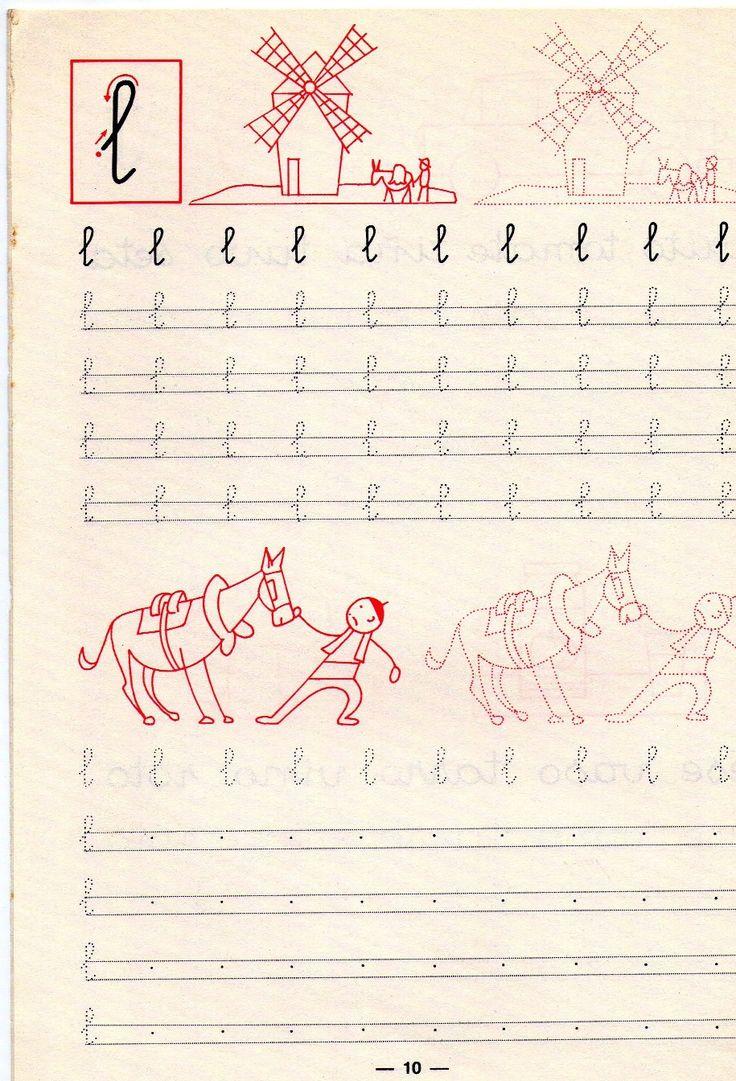 .Las primeras letras. Me encantaba hacer los dibujillos
