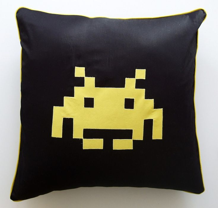 Space Invader Cushion for Christmas