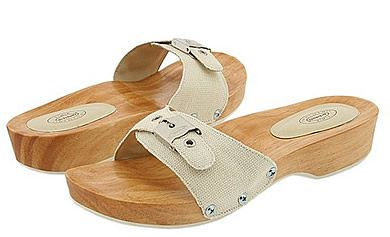 """Dr. Scholls sandals - unbelievably uncomfortable, but hey, they were """"in"""" in the 70's."""