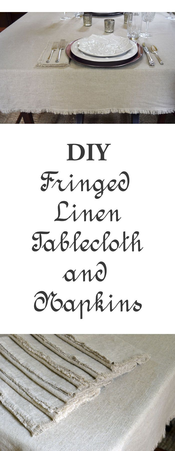 21 Best Ceiling Fan Images On Pinterest Ceilings Hunter Fans And Artemis Wiring Diagram Illustrated Instructions How To Make A Fringe Edged Linen Tablecloth Napkins Perfect For Your Holiday Entertaining Special Family Dinners