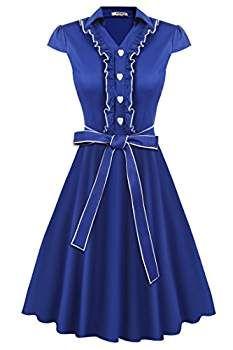 HOTOUCH Mujer Vestido Vintage Retro 1950s 'Audrey Hepburn' Rockabilly Vestido Coctel #fashion #moda #circulogpr #primavera #guapa #happy #love #iloveyou #smilling #style #fashioninspiration #beautiful #años50