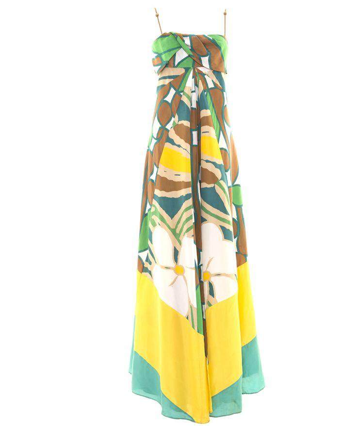 DVF Silk Floral Maxi Dress by Diane von Furstenberg