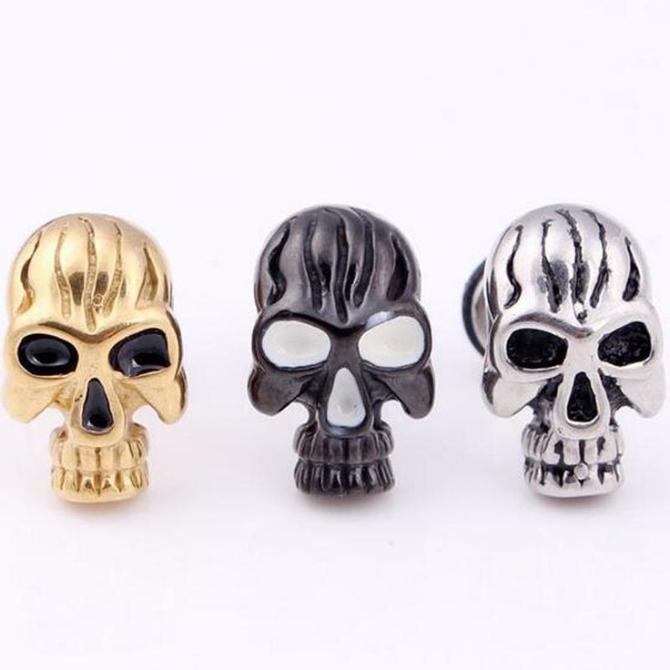 Check out our new item 2piece New Punk G.... Just added today get it here http://everythingskull.com/products/2piece-new-punk-gothic-vintage-skull-titanium-stainless-steel-mens-ear-stud-barbell-earrings-skulls-f?utm_campaign=social_autopilot&utm_source=pin&utm_medium=pin