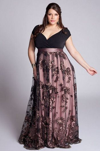 Plus Size Evening Gowns For Elegant Women : plus size evening gown