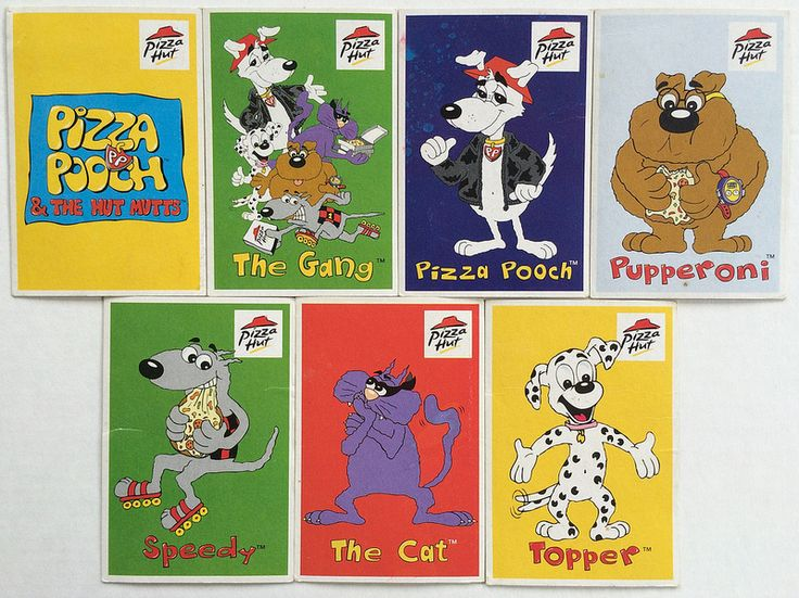 Pizz Hut Pizza Pooch Cards