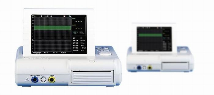 """Fetal monitor GRF-810  Light dexterous appearance, tops horizontally and walls can be hoisted 8.0 """"screen color LCD display, rotatable screen to 60° Display of the patient data and curve clearly FHR 120 BPM-160 BPM normal range label"""