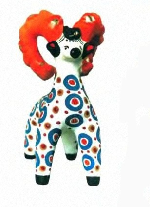 Dymkovo animal toys step by step painting