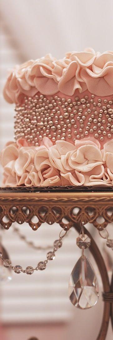 Frivolous Fabulous - Sweet Pink Engagement Cake