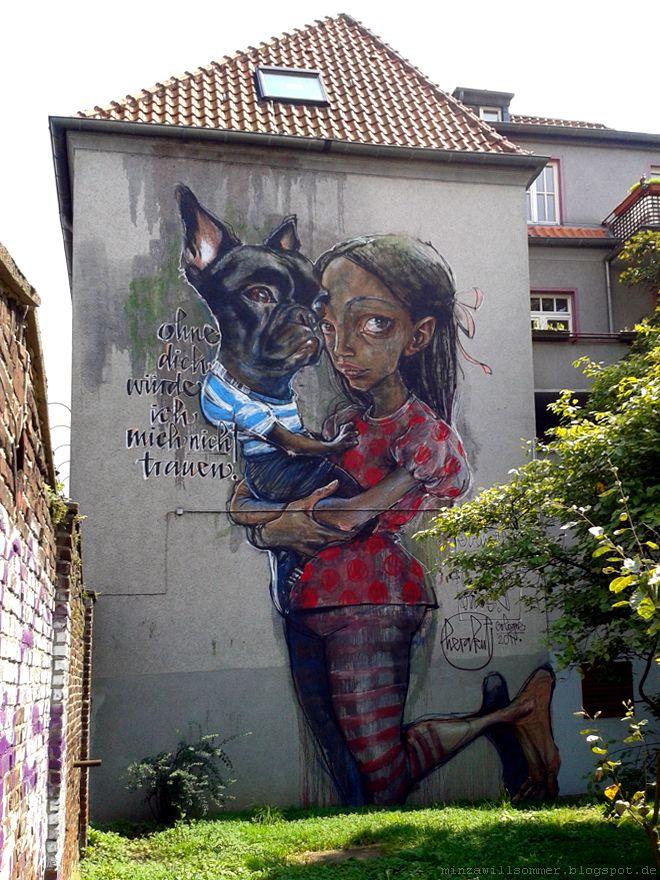"""Street Art I Herukat I """"Ohne dich würde ich mich nicht trauen."""" I cologne streetart streetartcologne urbanart köln ehrenfeld"""