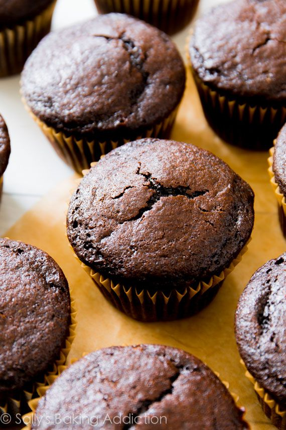 The BEST Homemade Chocolate Cupcakes! No mixer required - they're so simple. Ditch that box mix! It doesn't compare.