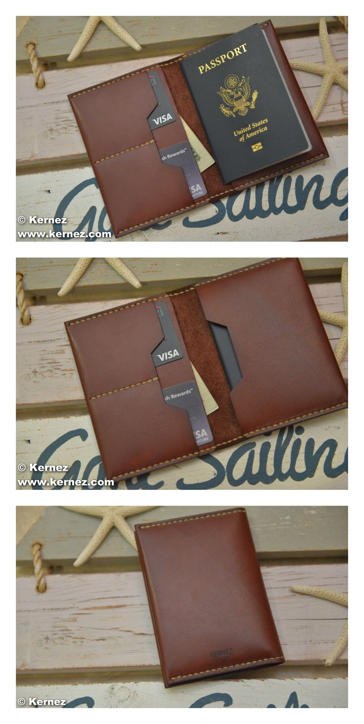 Keep yourself and your family organized this travel season with our original leather travel wallet. Designed to keep your most important documents safe and close at hand, this organizer holds passports, boarding passes, credit cards, currency, and any other travel documents. For families traveling with small children, this is the perfect way to keep track of everyone's papers and passes.