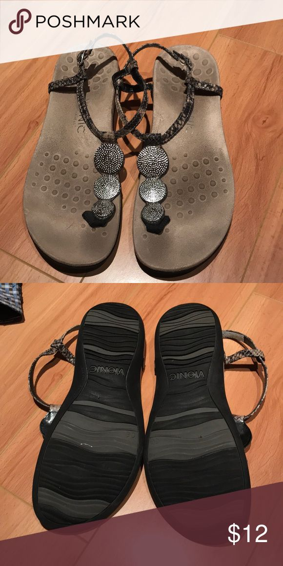 Dressy orthopedic sandals! Worn but still have a ton of life left in them. Perfect for long walks or days on your feet because they give a ton or support and look good too. Shoes Sandals