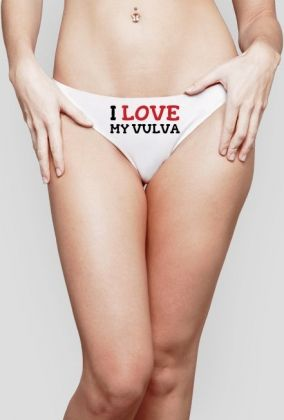 I Love My Vulva #feminism #feminist #radfem #vulva #vagina #female #women #selflove #confidence #bodypositive #underwear You can buy the thong underwear here: https://blibli.cupsell.com/product/2287234-product-2287234.html And here you can find other merchandise with the same design: https://blibli.cupsell.com/k/i-love-my-vulva