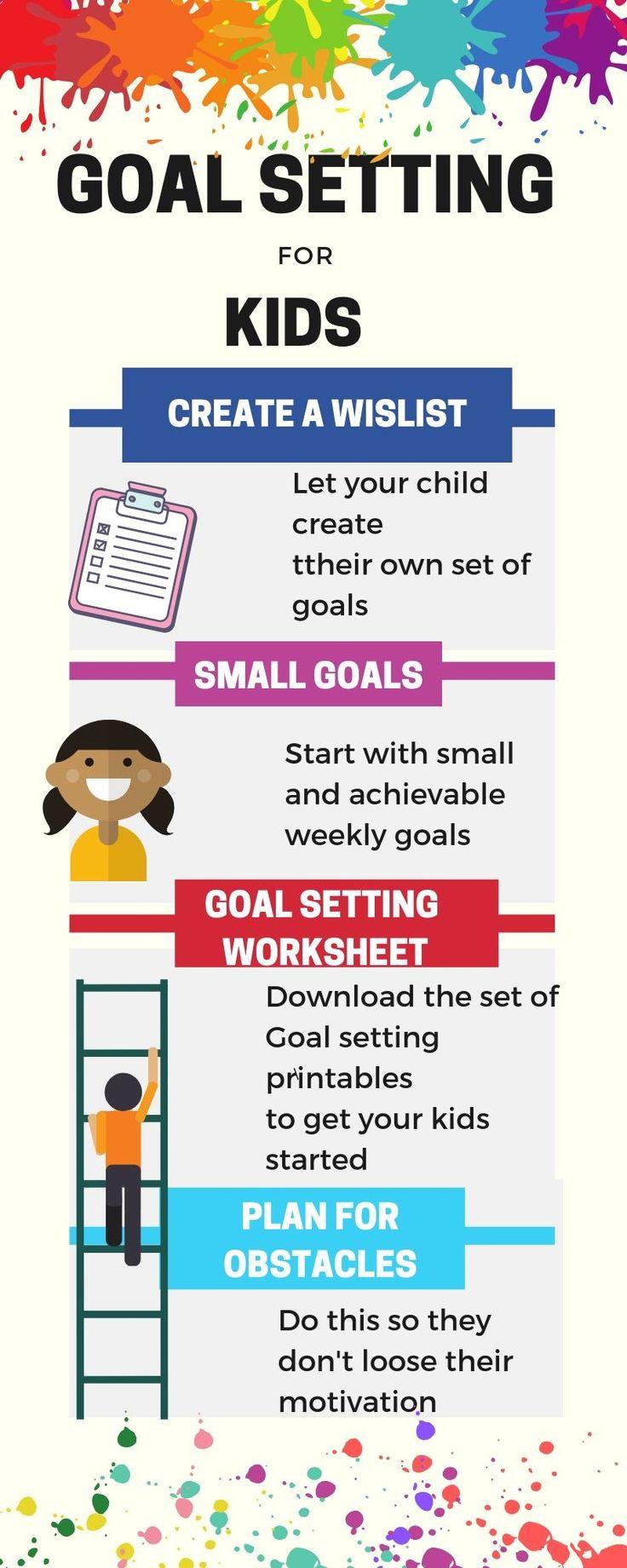Goal Setting Worksheets For Kids Kids n Clicks in 2020