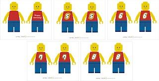 Free Lego man printables with a number 6