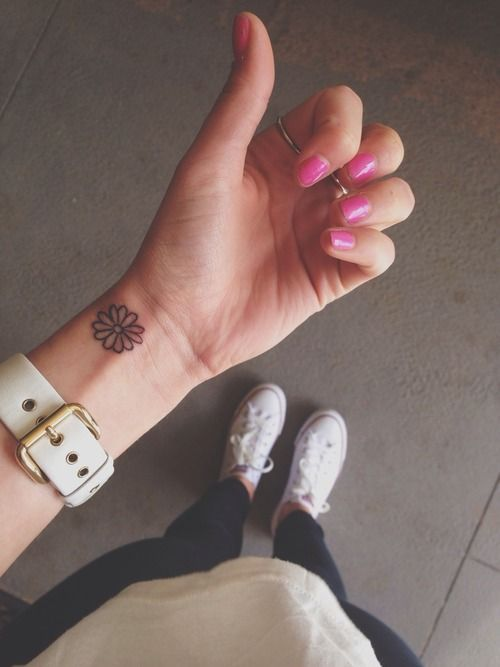 flower on the wrist tattoo - Google Search