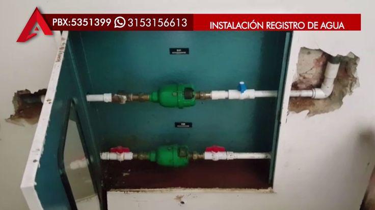 Instalación registro de agua