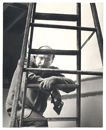 Citation: Mark Rothko at work, 1952 / Kay Bell Reynal, photographer. [Photographs of artists taken by Kay Bell Reynal], Archives of American Art, Smithsonian Institution.